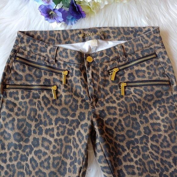 Michael Kors Denim - Michael Kors animal print skinny jeans